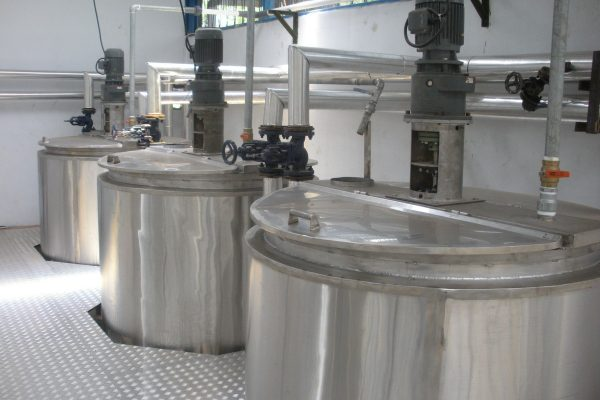 Double Jacket Tank in Tea Processing Plant