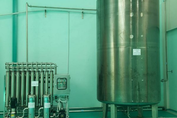 Storage Tank in Mineral Water Processing Plant
